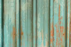 Old green metal wall Stock Image