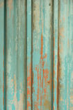 Old green metal wall Stock Photo