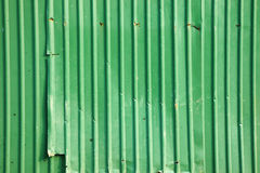 Old green metal wall Royalty Free Stock Photography