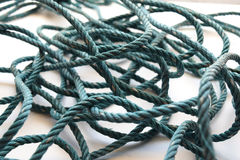 Old Green nylon rope swaddle  abstract background Royalty Free Stock Images