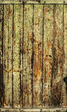 Old green orange timber wooden background Stock Photo