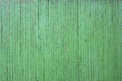 Old green painded fence. Royalty Free Stock Photography