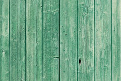 Old green painted weathered wooden planks Royalty Free Stock Photos