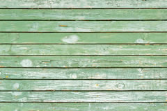 Old green painted wood wall