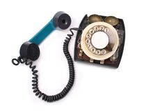 Old green phone Royalty Free Stock Photos
