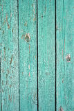 Old green plank fence Royalty Free Stock Photography