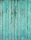 Old green plank fence Stock Photos