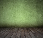 Old green room with concrete wall Royalty Free Stock Photo