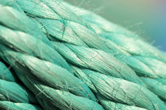Old green rope. Royalty Free Stock Photography