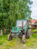 Old green rusty tractor Royalty Free Stock Photography