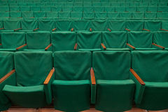 Old green seats in theater Royalty Free Stock Image