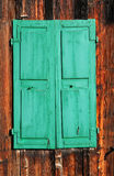 Old green shutters Stock Image