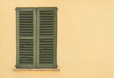 Old green shutters Royalty Free Stock Photo