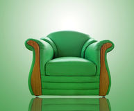 Old green  sofa Royalty Free Stock Photography