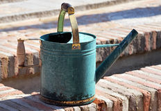 Old green sprinkler Stock Photography