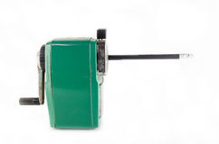 Old green stapler Stock Image