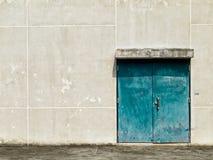 Old Green Steel Double Door Stock Photography