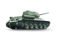 Old Green Tank Royalty Free Stock Photos