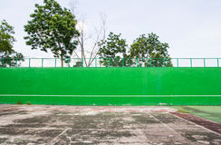 Old green Tennis Court Stock Photo