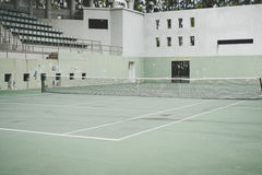 Old green tennis court,vintage style Royalty Free Stock Photos