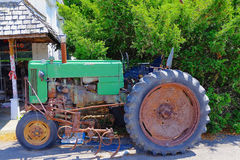 Old Green Tractor Stock Photography