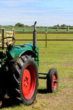 Old Green Tractor Stock Image