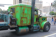 Old green truck Stock Photos