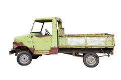 Old green truck isolated on white Stock Photography