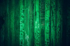 Old green vintage wood. Dark green vintage wood texture and background. Abstract texture and background for designers. Old vintage. Wood paint in dark green Royalty Free Stock Image