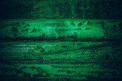 Old green vintage wood. Dark green vintage wood texture and background. Abstract texture and background for designers. Old vintage. Wood paint in dark green Royalty Free Stock Photos