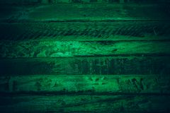 Old green vintage wood. Dark green vintage wood texture and background. Abstract texture and background for designers. Old vintage. Wood paint in dark green Royalty Free Stock Photography
