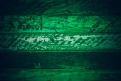 Old green vintage wood. Dark green vintage wood texture and background. Abstract texture and background for designers. Old vintage Stock Image