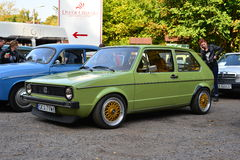 Old green Volkswagen Golf 1 Royalty Free Stock Images