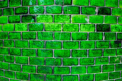 Old green wall tiles Royalty Free Stock Photos