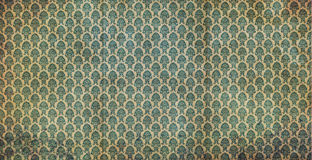 Old green wallpaper Stock Photos