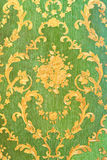 Old green wallpaper Royalty Free Stock Image