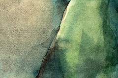 Old green watercolor background. Old green grunge watercolor background Royalty Free Stock Photo