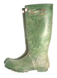 Old green wellington boots Stock Photography