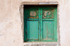 Old green window Royalty Free Stock Images