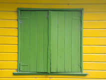 Old green window closed. In town of Buenos Aires Royalty Free Stock Photography