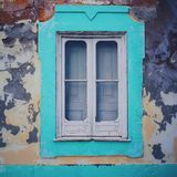 An old green window Royalty Free Stock Photo