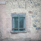 Old green window shutters Royalty Free Stock Images