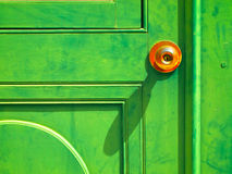 Old Green wood door Stock Photos