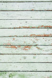 Old green wood planking background, grunge texture Royalty Free Stock Photos