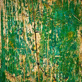 Old green wood texture background Stock Images