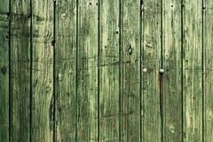 Old green wood texture background Stock Photography