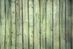 The old green wood texture with natural patterns.  Stock Photo