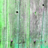 The old green wood texture with natural patterns Royalty Free Stock Photos
