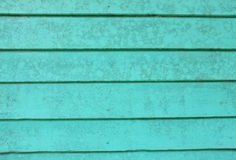 Old green wooden boards wall Stock Photography