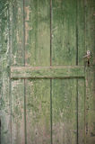 Old green wooden door Royalty Free Stock Photos